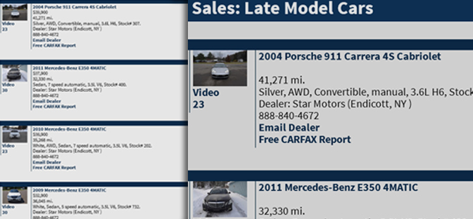 Star Motors - Late Model Cars for Sale
